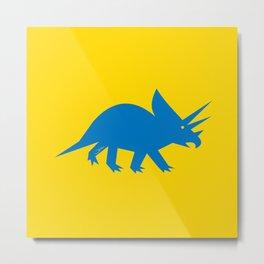 Simplesaurs: Ceratops Metal Print