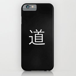 Word and colors for meditation 3 : Tao iPhone Case