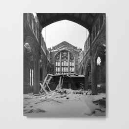 Abandoned Church Ruins Gary Indiana Photography Metal Print