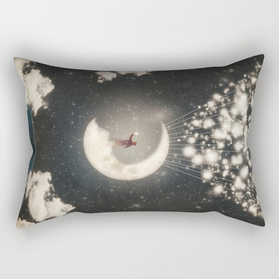 The Big Journey of the Man on the Moon  Rectangular Pillow