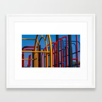 frames Framed Art Prints featuring Frames by Lewis Fone