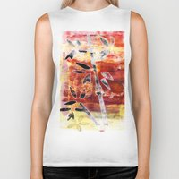 bamboo Biker Tanks featuring bamboo by Kras Arts - Fly Me To The Moon