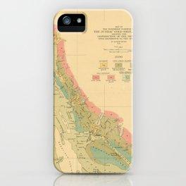 Vintage Geological Map of Juneau Alaska (1912) iPhone Case
