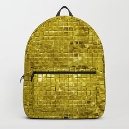 Faux gold geometric squares pattern Backpack