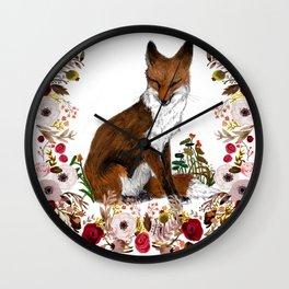 Sleepy Rose Wall Clock