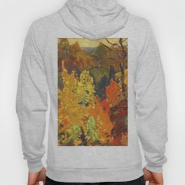 Canadian Landscape Oil Painting Franklin Carmichael Art Nouveau Post-Impressionism Autumn Hoody