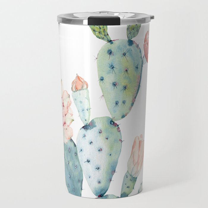 Cactus 2  White #society6 #buyart Travel Mug