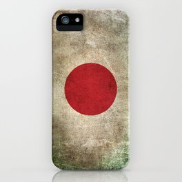 Old and Worn Distressed Vintage Flag of Japan iPhone Case