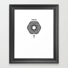 Mesh Geometry III White Framed Art Print