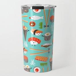 Happy Sushi Travel Mug