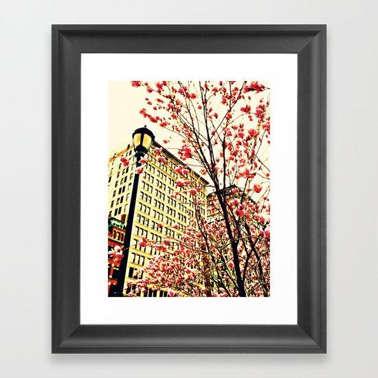 street blossoms Framed Art Print