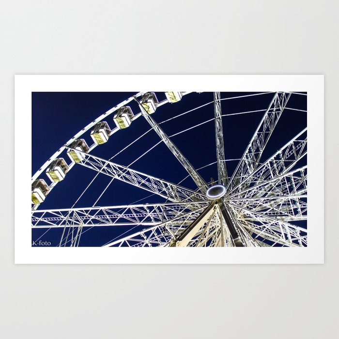 Parisian Ferris Wheel Art Print