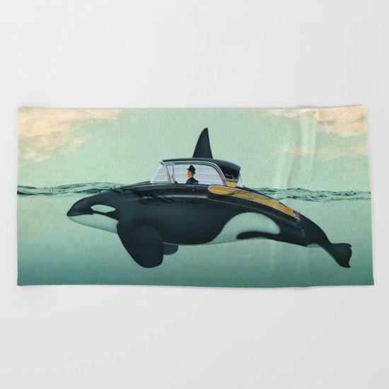 The Turnpike Cruiser of the sea Beach Towel