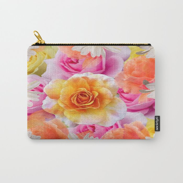 Spring Flowers Galore Absstract Carry-All Pouch