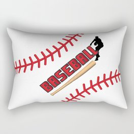 Baseball Player Rectangular Pillow