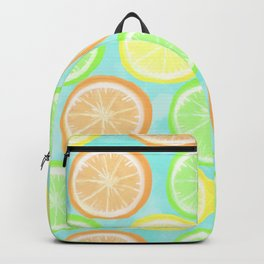 Citrus Wheels (Aqua) Backpack