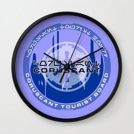 Coruscant Tourist Board Wall Clock