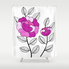 Rosette Mauve Shower Curtain