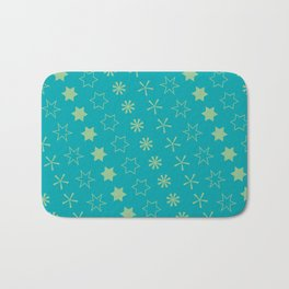 Asterisk-a-thon Blue Bath Mat