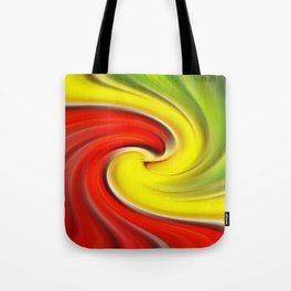 Twirl Red Green Gold Tote Bag