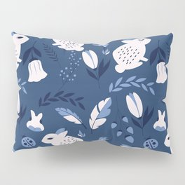 Rabbits and Flowers 003 Pillow Sham