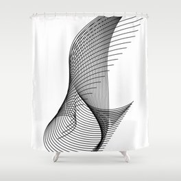 """Script Collection"" - Minimal Letter I Print Shower Curtain"
