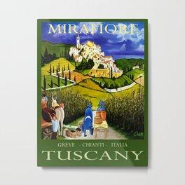 TUSCANY WINE POSTER Metal Print