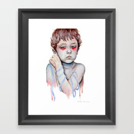 Shoelace Framed Art Print