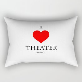 Stage Directions Rectangular Pillow