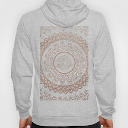 Mandala - rose gold and white marble Hoody