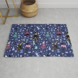 Alice - Mad Tea Party Pattern Rug