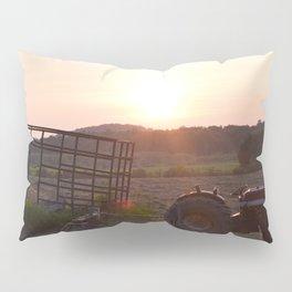 Tractor Sunset Pillow Sham
