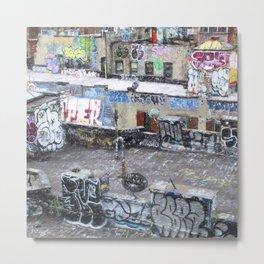 NYC Rooftop Art Metal Print