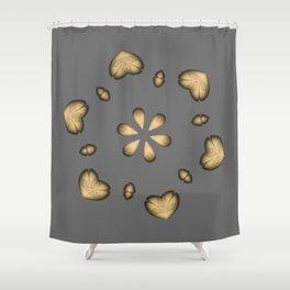 Golden Hearts Golden Luxury Week Wednesday Shower Curtain