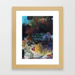 Phillipians 4:13 Bible Verse Scripture Abstract Art by Michel Keck Framed Art Print