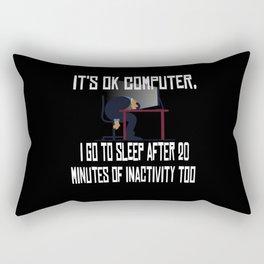 It is Ok Computer Computer Scientist Hacker It Rectangular Pillow