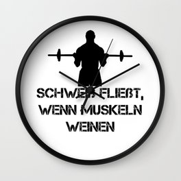 Sweat flows when muscles cry (black). Wall Clock
