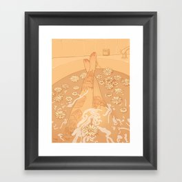 Flower Bath 10 (censored version) Framed Art Print