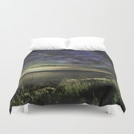Peek-a-boo Aurora at Folly Cove Duvet Cover