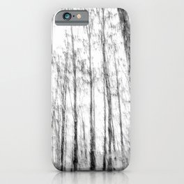 Black and white tree photography - Watercolor series #3 iPhone Case