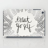 treat yo self iPad Cases featuring Treat Yo Self – Silver by Cat Coquillette