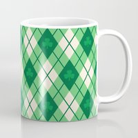 irish Mugs featuring Irish Argyle by Fimbis