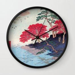 Utagawa Hiroshige - 100 Famous Views of Edo - Ukeji, Inside Akiba Shrine Wall Clock