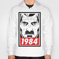 1984 Hoodies featuring OBEY 1984 by MRCRMB