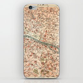 Vintage Map of Paris iPhone Skin