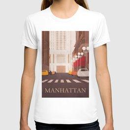 New York Manhattan watercolor T-shirt