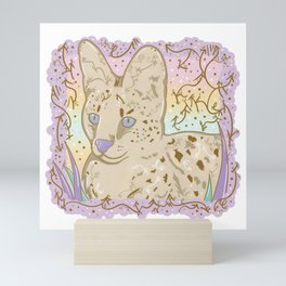 Pretty Little Serval Mini Art Print