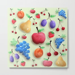 Fruit Collection Metal Print