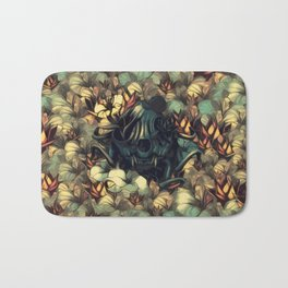 The skull, the flowers and the Snail Warm Bath Mat
