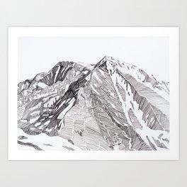 Sopris Summit Art Print